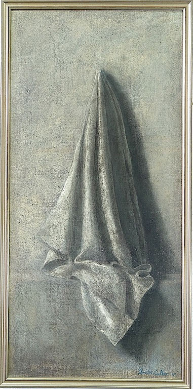 'Thornton Walker (1935-) Hanging Cloth Oil on Canvas'