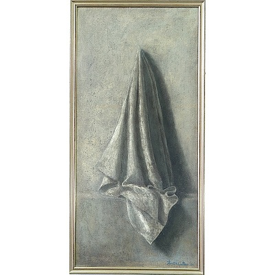 Thornton Walker (1935-) Hanging Cloth, Oil on Canvas
