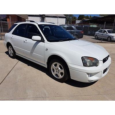 12/2002 Subaru Impreza GX (awd) MY02 5d Hatchback White 2.0L