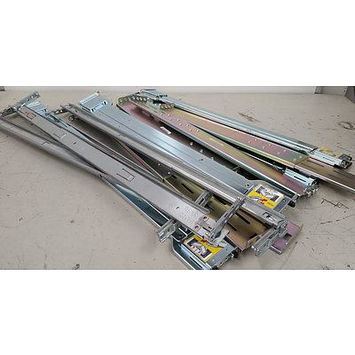 HP & Dell Server 2RU Rack Rails With Slide Out Tray and Two Power Supplies