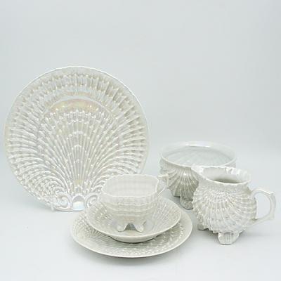 Victoria Opalescent Finish Six Person Tea Set