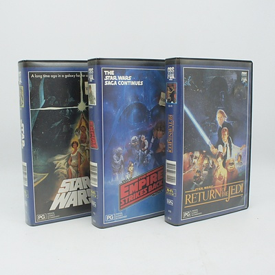 Original Star Wars Trilogy on VHS, Bags, Assorted Cabinet Items, Shoes, Electronics, and more
