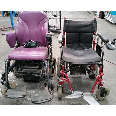 Roller M1 and Walk on Wheels Mobility Chairs - Lot of Two
