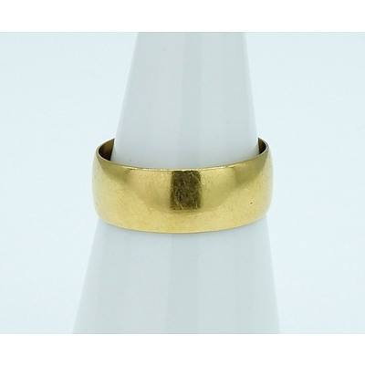 Antique 20ct Yellow Gold Wedding Ring