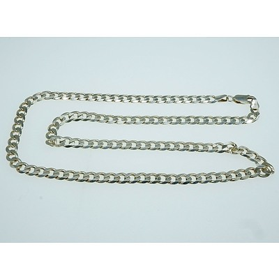 Sterling Silver File Curb Link Chain