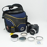 Fujifilm FinePix S5700 Camera, Life! Bag, and other accessories