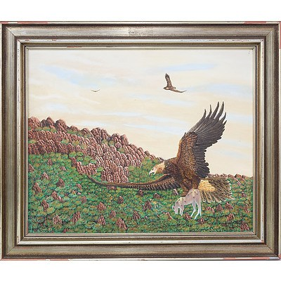 Hugh Schulz (1921-2005) Wedge Tailed Eagle Oil on Canvas