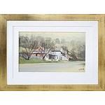 John Vander (1947-) Bush Cottage Oil on Board