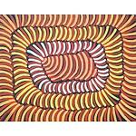 Violet Petyarre (c1945-) Body Paint Acrylic on Linen
