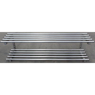 Stainless Steel Wall Mount Shelving Rack