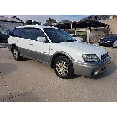 8/2002 Subaru Outback  MY02 4d Wagon White / Grey 2.5L