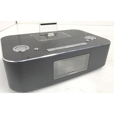 Philips DCB291/12 Alarm Clock Radio Docking Station for iPod, iPhone & iPad