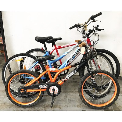 Mountain & BMX Bikes - Lot of 3