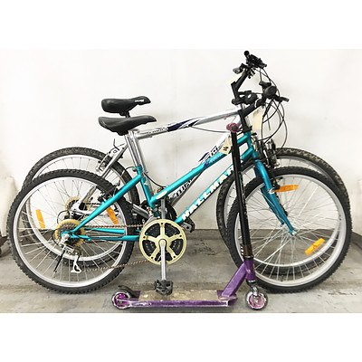 Mountain Bikes & Scooter - Lot of 3