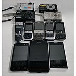 Bulk Lot of Assorted Mobile Phones and Cameras