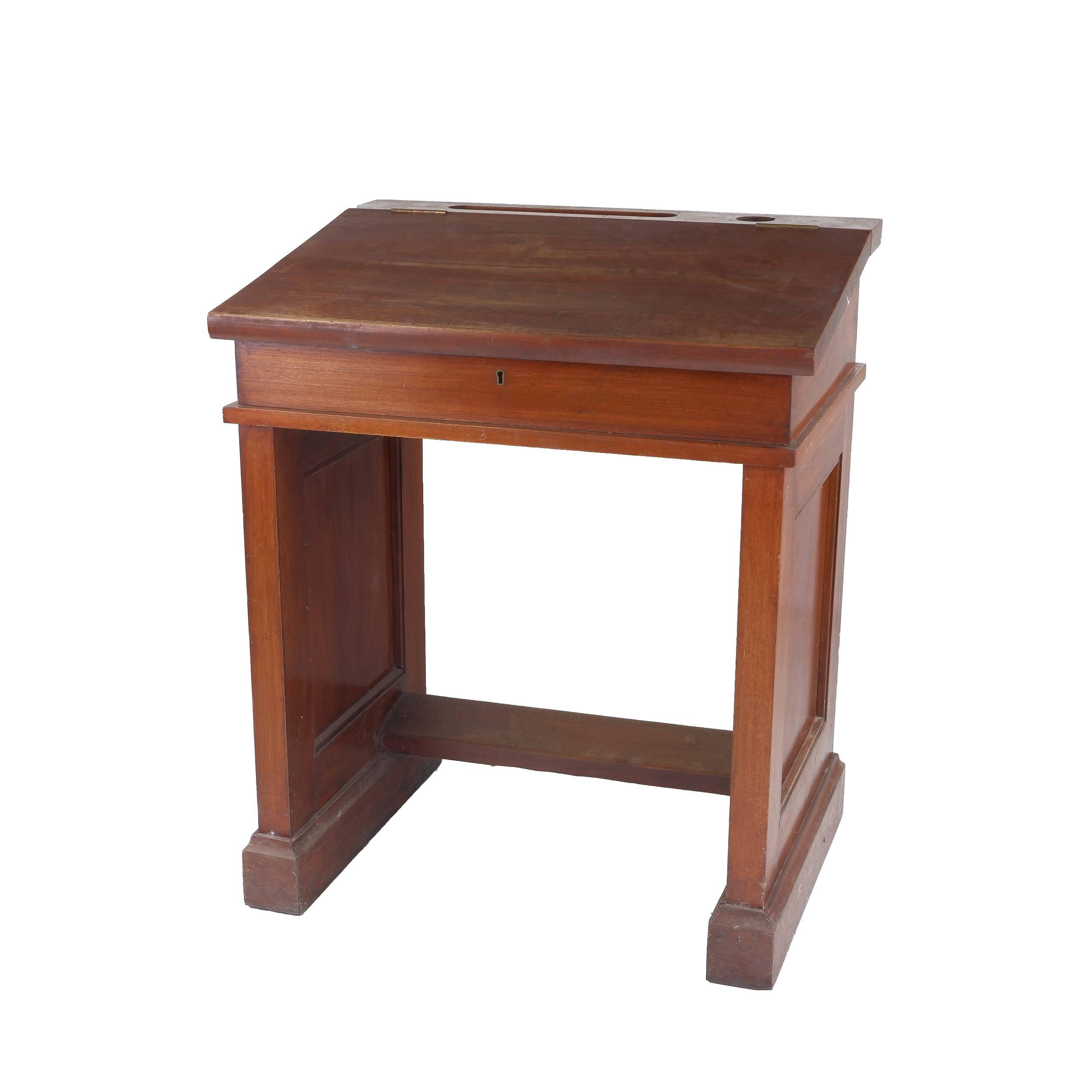 'Good Solid Tasmanian Blackwood School or Clerks Desk Circa 1920s'