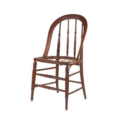 Antique Spindle Back Chair ex Yass Courthouse Impressed Date Stamp 1875