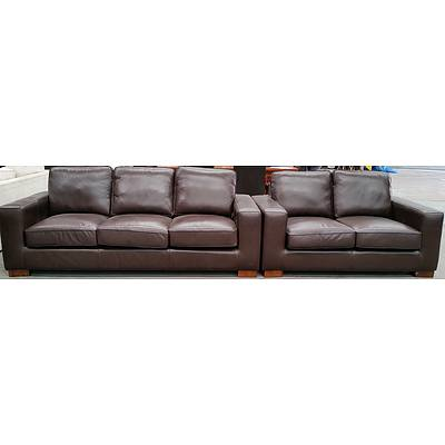 Two Piece Leather Lounge Suite