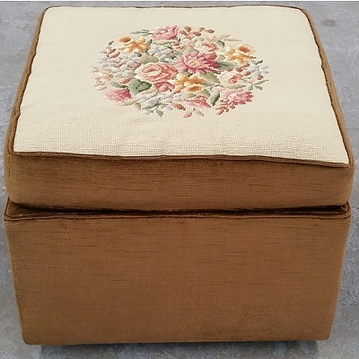 Ottoman With Tapestry Cushion