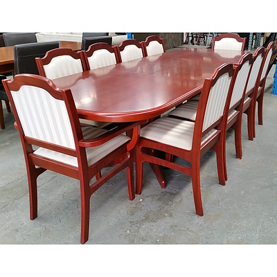 Eleven Piece Formal Extension Dining Setting