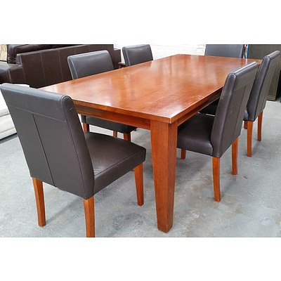 Seven Piece Contemporary Dining Setting