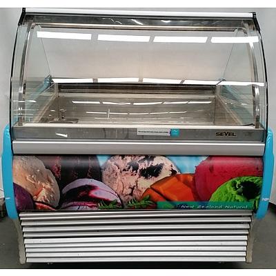 Sevel 12 Pan Gelato Freezer Display Cabinet