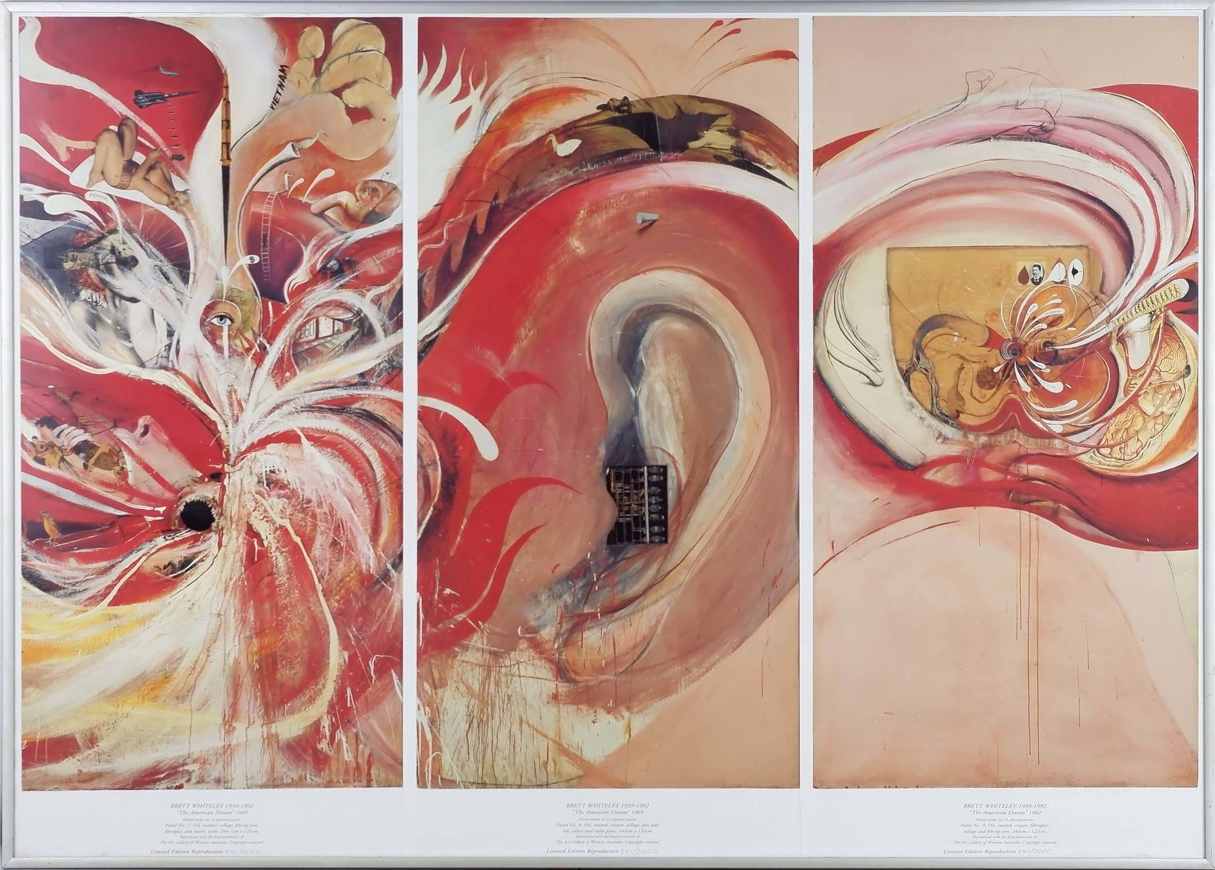 'Brett Whiteley (1939-1992) American Dreams Series Lithograph Edition 541/3000'