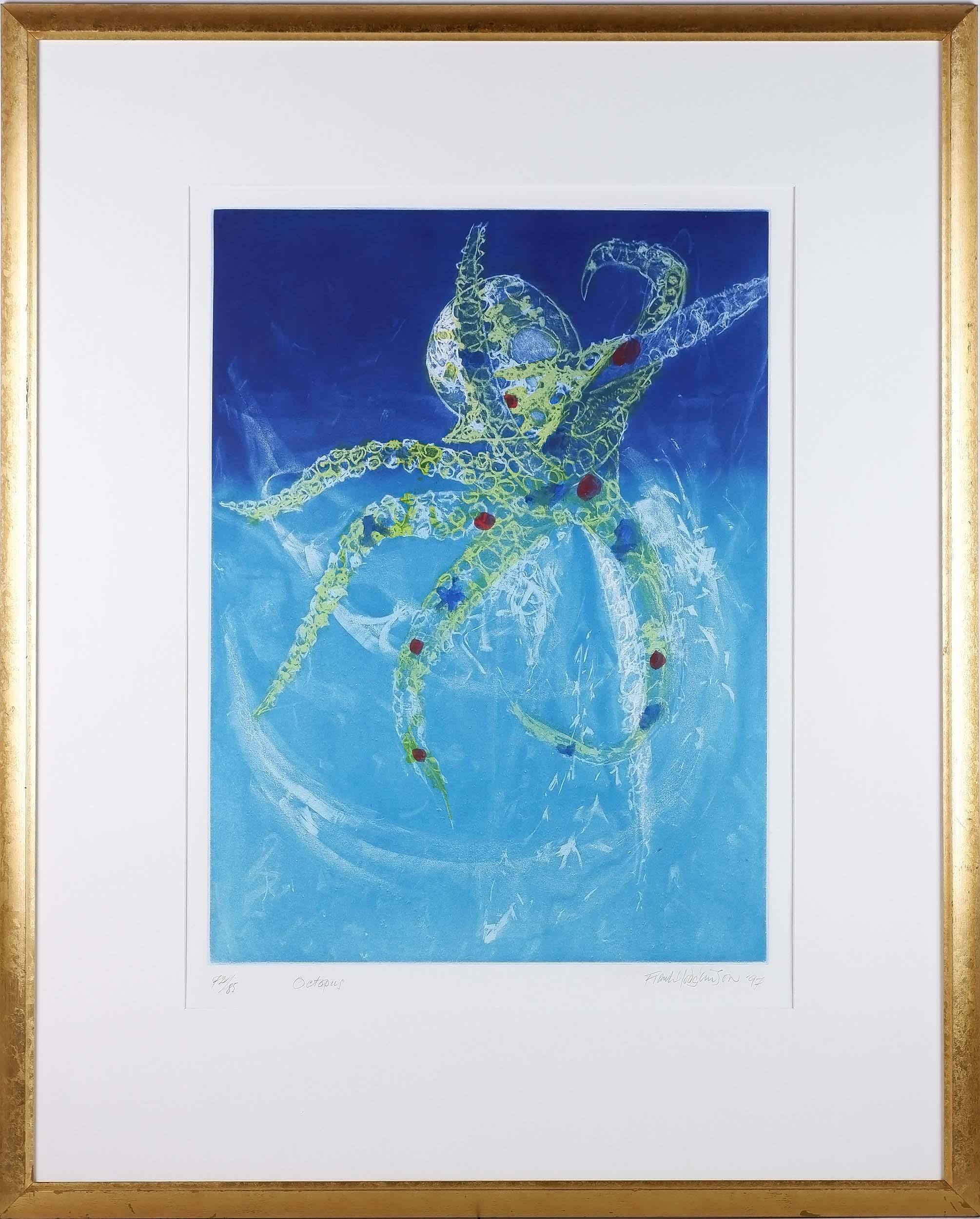 'Frank Hodgkinson (1919-2001) Octopus Colour Etching Edition 72/85'
