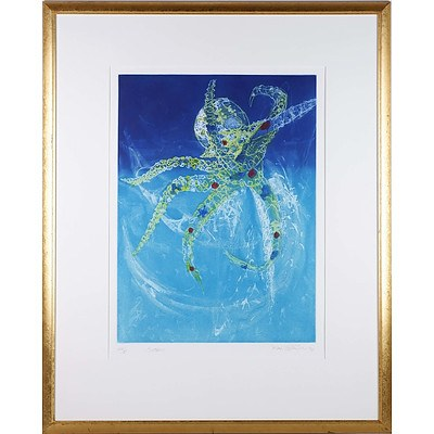 Frank Hodgkinson (1919-2001) Octopus Colour Etching Edition 72/85