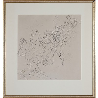 Norman Lindsay (1879-1969) The Intruders Pen and Pencil on Paper Circa 1932