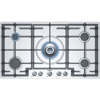 Bosch PCR9A5B90A / 01 90cm Series 6 5 Burner Stainless Steel Cooktop - RRP $1,199 - Brand New