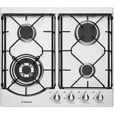 Westinghouse WHG641SA 60cm Stainless Steel Gas Cooktop - RRP Over $400 - Brand New