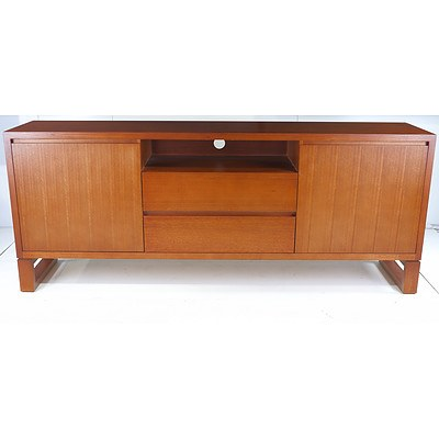 Contemporary Hardwood TV Entertainment Unit Made for Custom Design