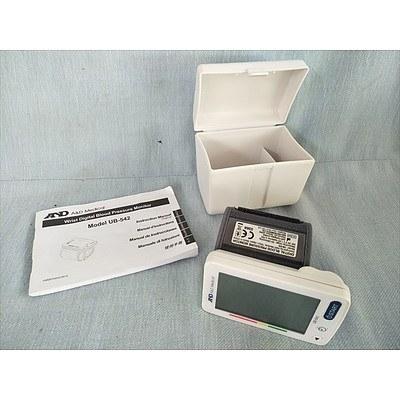 A&D Medical wrist digital blood pressure monitor (model UB-542)