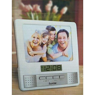 SANTEK Clock Radio and Photo Frame (QTY: 2) - NEW in box
