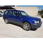 1/2004 Subaru Forester X MY04 4d Wagon Blue 2.5L