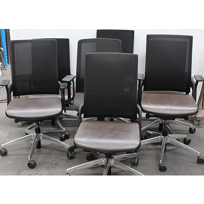 Gaslift Office Task Chairs - Lot of Seven