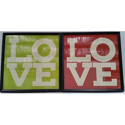 Love Wall Prints - Lot of Two
