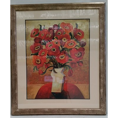 La Grolla Framed Print of Red Blooms