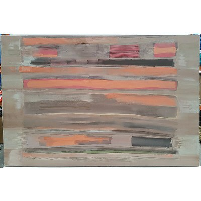 Large Abstract Stretched Canvas Print