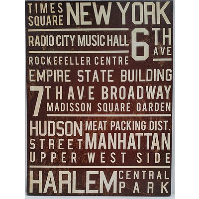 New York Stretched Canvas Print