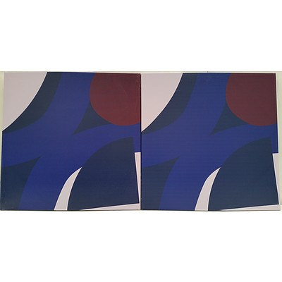 Abstract Stretched Canvas Prints - Lot of Two