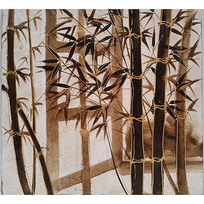 Bamboo Scene Stretched Canvas Print