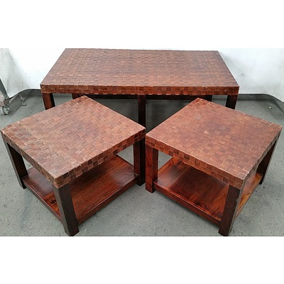 Coffee Table and Two Occasional Tables