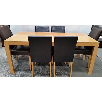 Contemporary Seven Piece Dining Setting
