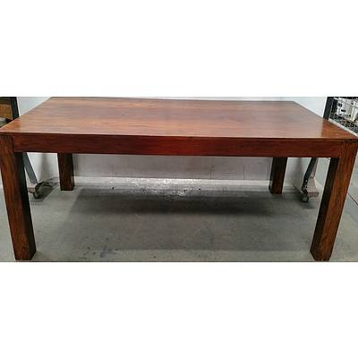 Stained Pine Dining Table