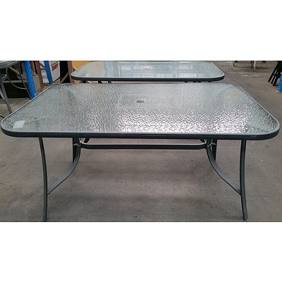 Outdoor Dining Tables - Lot of Two