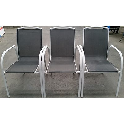 Outdoor Dining Chairs - Lot of Three