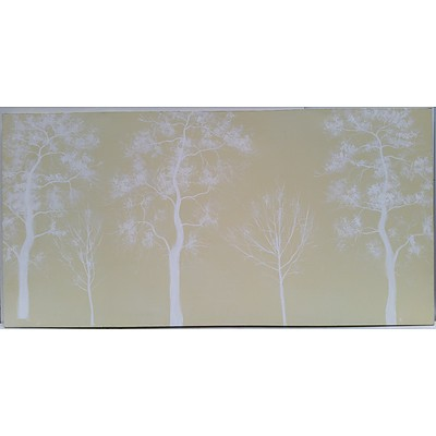 Abstract Forest Scene Stretched Canvas Painting