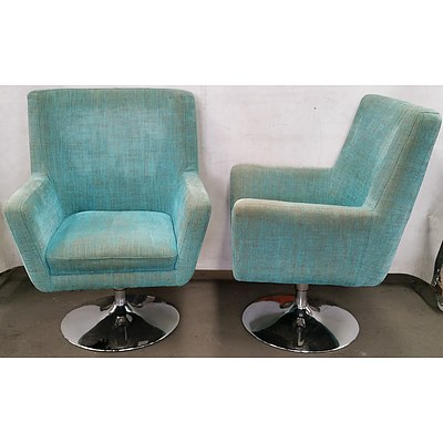 Swivel Armchairs - Lot of Two